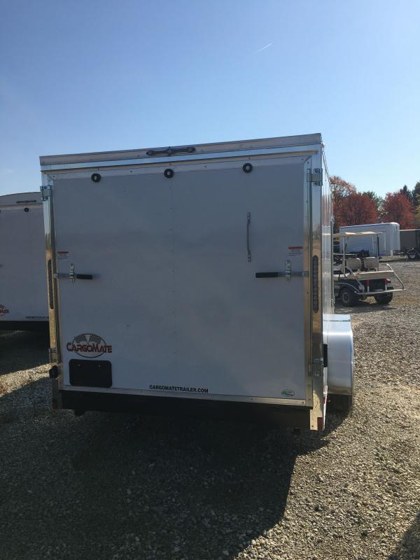 2021 Cargo Mate EHW716TA2 Enclosed Cargo Trailer - 7x16 TA - E & V Package 2 - Ramp Door - 24 Inch Stoneguard Upgrade - Stab Jacks (GVW:  7000)