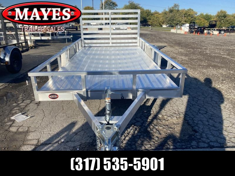 2021 Sport Trailers OUA714 Utility Trailer  7x14 SAUT - Aluminum Floor - Tailgate - 15 Inch Tires and Wheels (GVW:  2990)