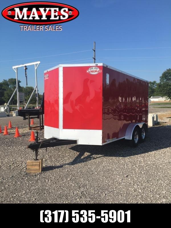 Used 2019 Cargo Mate EHW714TA2 Enclosed Cargo Trailer  - 7x14 TA - Ramp Door - Torsion Axles - Aluminum Wheels (GVW:  7000)