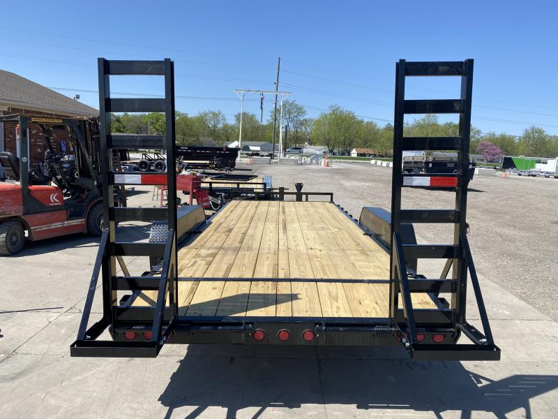 2021 PJ Trailers CC202 Equipment Trailer - 83X20 (18+2) TA - Dovetail - Fold up Ramps - 6 Inch Channel Frame (GVW:  14000)
