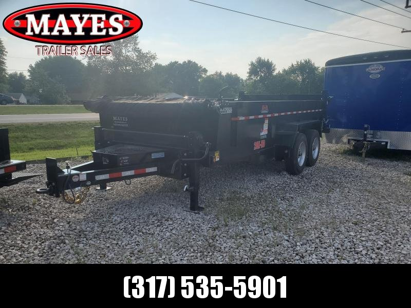 2021 B-B 83x16 TA Low Pro LPD83X16E102 Dump Trailer - Scissor Hoist - Steel Floor - Tarp Kit - Dual Speed Dual Jacks (GVW:  20000)