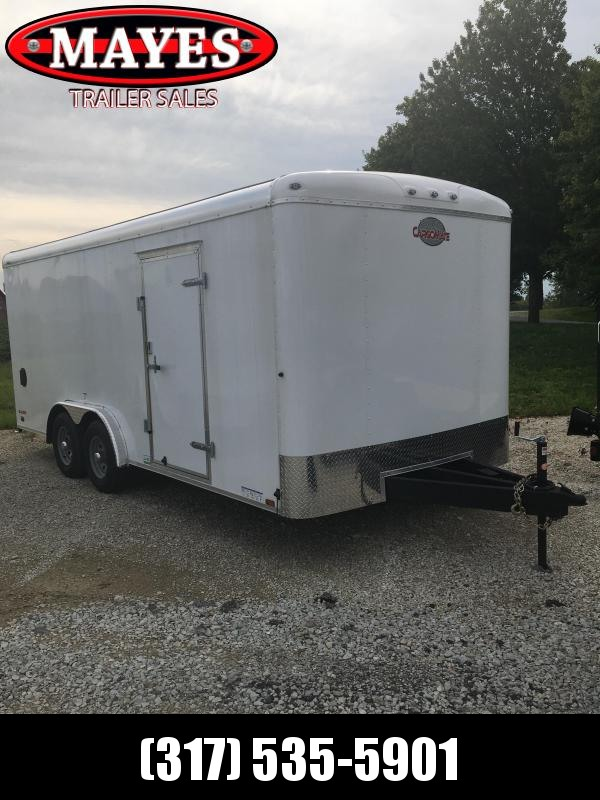 2021 8x18 Cargo Mate BL818TA3 Enclosed Cargo Trailer - White (RD)(GVW: 9800)