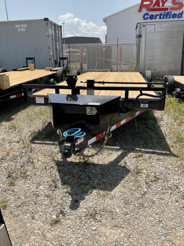 2022 PJ Trailers 1C252 (CC182) Equipment Trailer - 83X20 (18+2) TA - 6 Inch Channel - Dovetail - Tool Box - Spare Tire and Wheel (GVW:  14000)