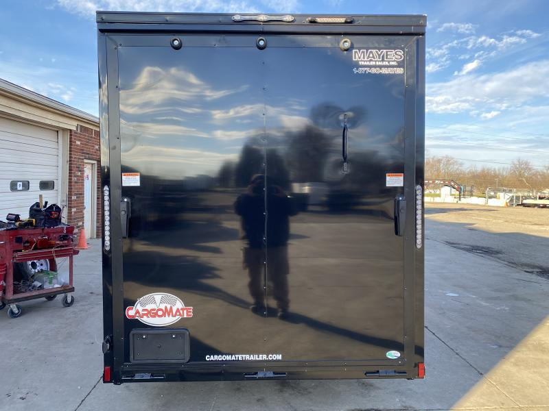 2021 Cargo Mate EHW612SA Enclosed Cargo Trailer - 6.5x12 SA - Ramp Door - Side by Side Package - Black Out Package - Square RV Door - 6 Inch Additional Height (GVW:  2990)