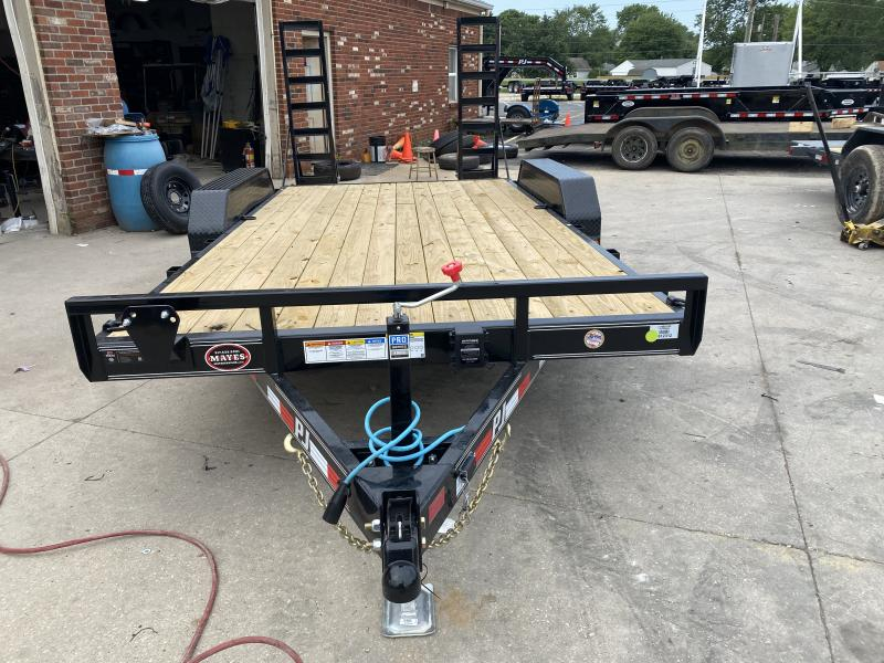"2021 PJ Trailers 16'x5"" Channel Equipment Trailer - CE162 - 83x16 (14+2) - Dovetail - Fold Up Ramps (GVW:  9899)"