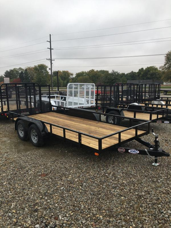 2021 American Manufacturing Operations (AMO) UT162 Utility Trailer - 76x16 TAUT - Tailgate - Electric Brakes (GVW:  7000)