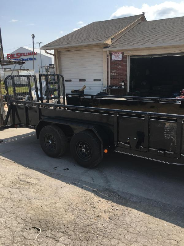 """2021 PJ Trailers 18' x 83"""" Tndm Axle Channel Utility Trailer - 83x18 (16+2) TAUT - Dovetail - Split HD Gate - Steel DP Fenders - Spare Tire and Mount - 22 Inch Solid Metal Sides (GVW:  9900)"""