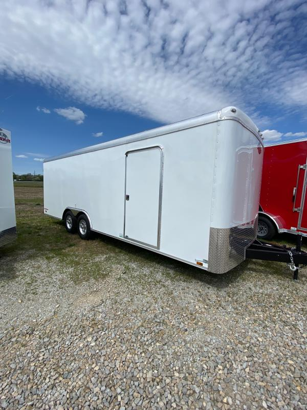 2021 Cargo Mate CM822TA3 Enclosed Cargo Trailer - 102X22 TA - 102 Inch Wide Body Design - Ramp Door - Torsion Axles - No-Show Beavertail (GVW:  9800)