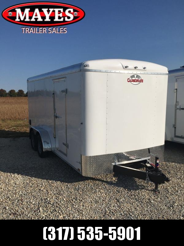 2021 Cargo Mate BL716TA2 Enclosed Cargo Trailer - 7x16 TA - Ramp Door - Side Door - Torsion Axles - Alum. Roof (GVW:  7000)