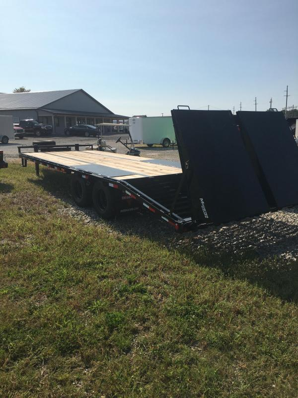 2021 102x25(20+5' Dovetail) PJ Trailers PL Low-Pro Pintle with Duals Trailer - w/ 5' Monster Ramps (GVW: 25000)