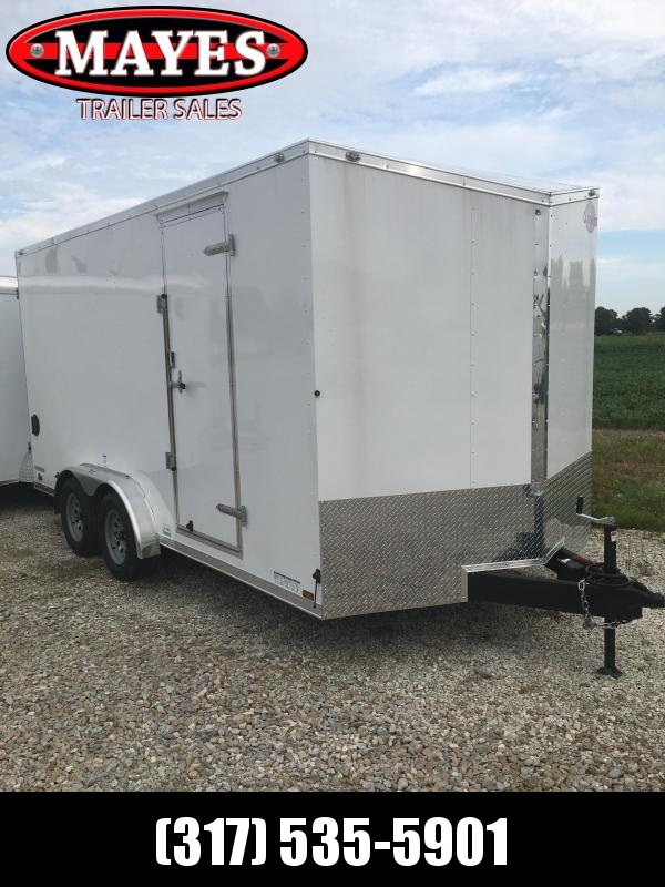 2021 Cargo Mate EHW716TA2 Enclosed Cargo Trailer - 7x16 TA - Double Doors - Side by Side Package - 12 Inch Additional Height (GVW:  7000)