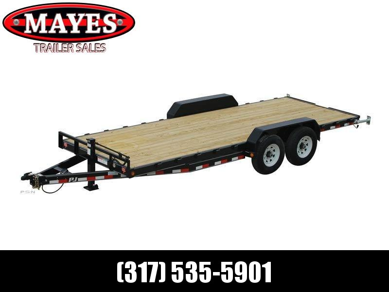 2021 PJ Trailers CC222 Equipment Trailer - 83X22 (20+2) TA - Dovetail - 6 Inch Channel Frame - 5 Foot Fold Up Ramps (GVW:  14000)