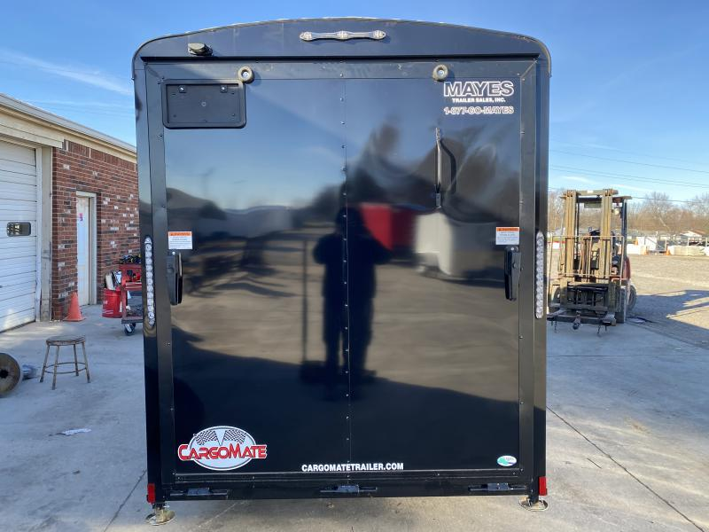 2021 Cargo Mate BL612SA Enclosed Cargo Trailer - 6x12 SA - Ramp Door - Torsion Axle - 6 Inch Additional Height - Black Out Package (GVW:  2990)