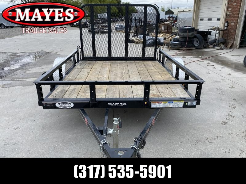 2020 PJ Trailers U7081 Utility Trailer 77x8 SA - Straight Deck - Fold In Gate - Spare Tire MOUNT ONLY (GVW:  2995)
