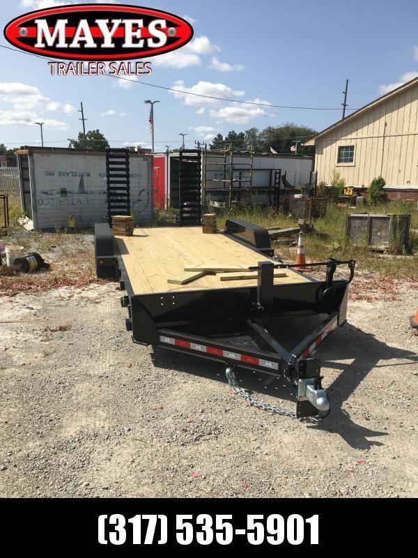 2021 B-B CBCT2014E-S Equipment Trailer - 83x20 (18+2) TA - Dovetail - D-Rings - Pallet Fork Holder - Treated Wood Floor - Spring Assist Flip Up Ramps (GVW:  14000)