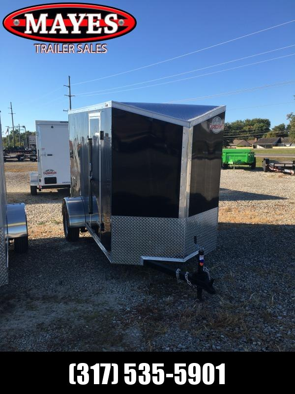 2021 Cargo Mate EHW510SA Enclosed Cargo Trailer - 5x10 SA - Ramp Door - Side by Side Package - Aluminum Roof - 12 Inch Additional Height (GVW:  2990)