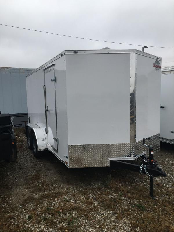 2021 Cargo Mate EHW714TA2 Enclosed Cargo Trailer - 7x14 TA - Ramp Door - Side Door - Spring Suspension (GVW:  7000)