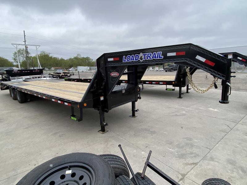 2021 Load Trail GP0232122 Equipment Trailer - 102x32 (27+5) TA Gooseneck - Self Clean Dovetail - Toolbox - Treated Wood Floor - Max Ramps - Max Steps (GVW:  25900)