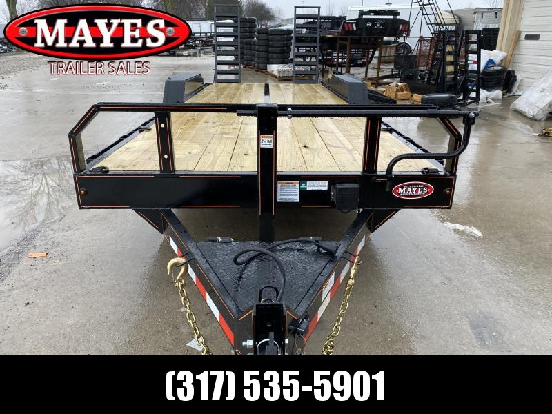 2020 22 Foot (19+3) TA Hank HM-P7K22SKID Equipment Trailer - Spring Assist HD Ramps - 7