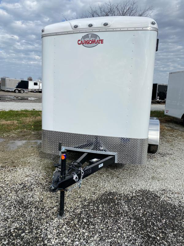 2021 Cargo Mate BL612TA2 Enclosed Cargo Trailer - 6x12 TA - Double Door with Dual Cambars - Torsion Axles - Alum. Roof (GVW:  7000)