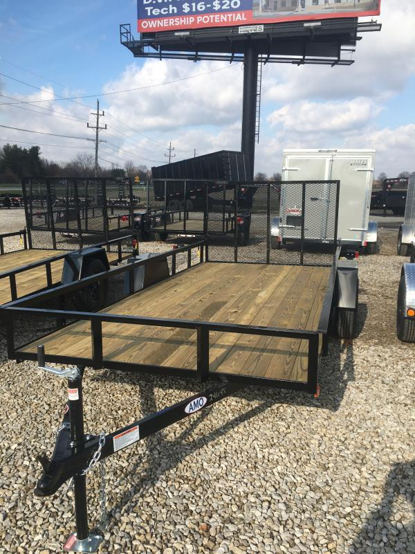 2021 American Manufacturing Operations (AMO) US141 Utility Trailer - 76X14 SA - Treated Wood Floor - Tailgate (GVW:  2990)