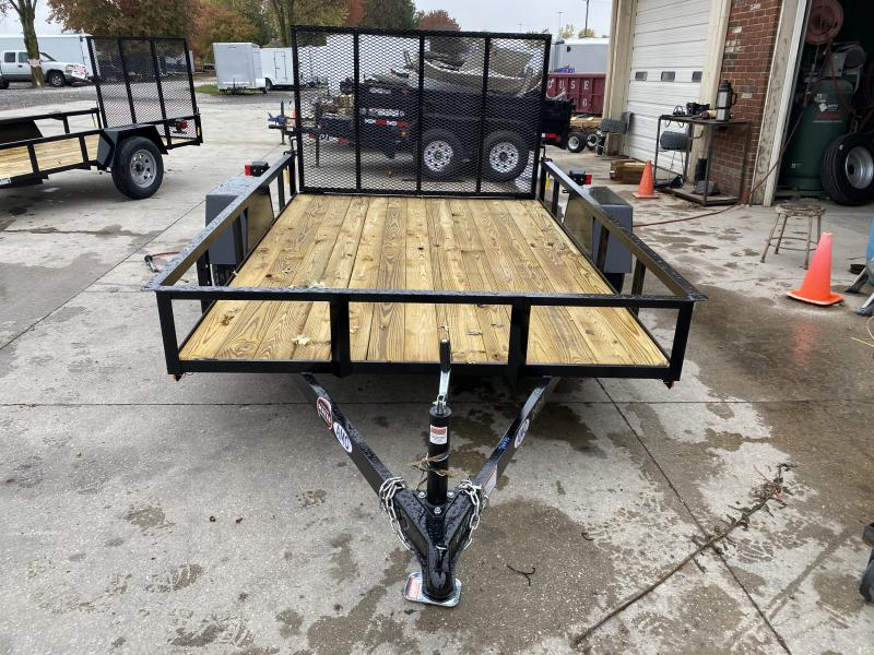 2021 American Manufacturing Operations (AMO) US101 Utility Trailer - 76x10 SAUT - Tailgate - 2 Inch Coupler (GVW:  2990)