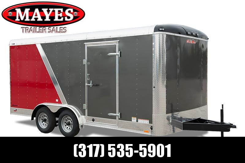 2021 Cargo Mate BL716TA2 Enclosed Cargo Trailer - 7x16 TA - Ramp Door - Side Door - Alum Roof - Torsion Axles (GVW:  7000)
