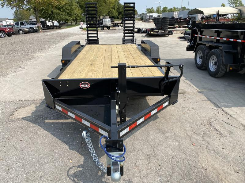 2021 B-B CBCT1816E-S Equipment Trailer - 83x18 (16+2) TA - 10 Inch Channel Frame - Dovetail - D-Rings - Pallet Fork Holder - Spring Assist Flip Up Ramps (GVW:  16000)