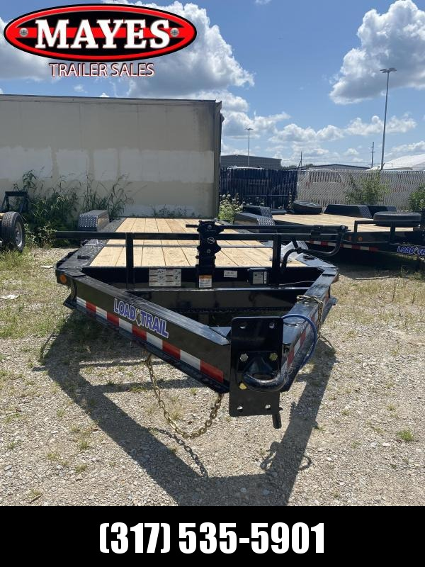 2022 Load Trail TH8320082 Equipment Trailer - 83x20 (4+16) TA Tilt - Pintle - D-Rings - Spare Tire MOUNT ONLY - 2 Inch Rub Rail (GVW:  16000)