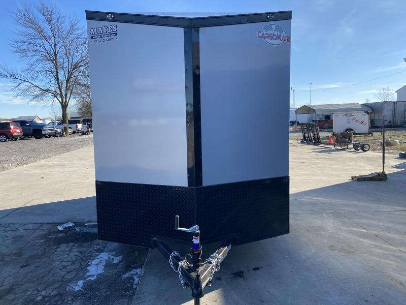 2021 Cargo Mate EHW612SA Enclosed Cargo Trailer - 6.5x12 SA - Ramp Door - 12 Inch Additional Height - Black Out Package - Side by Side Package (GVW:  2990)