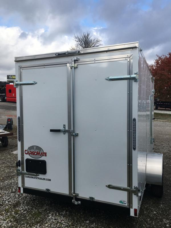 2021 Cargo Mate SSV612SA Enclosed Cargo Trailer - 6x12 SA - Double Door - 6 Inch Additional Height - Side Door (GVW:  2990)