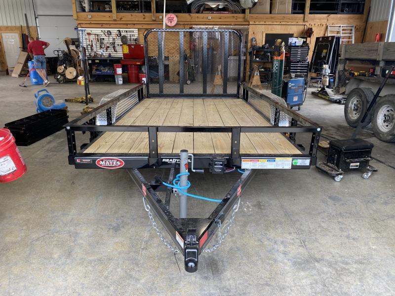 2022 PJ Trailers 1U162 (U7122) Utility Trailer  77X12 TA - Channel Frame- Straight Deck - Fold In Tailgate - Spare Tire MOUNT ONLY (GVW:  7000)