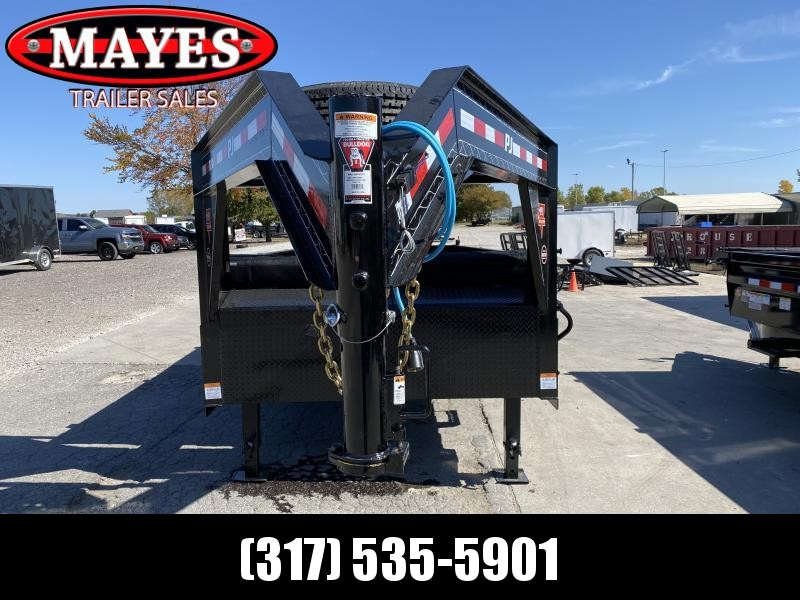 2021 PJ Trailers DL162 Dump Trailer - 83x16 TA Low Pro Gooseneck Dump - Split/Spread Gate - Tarp Kit - Spring Suspension (GVW:  14000)