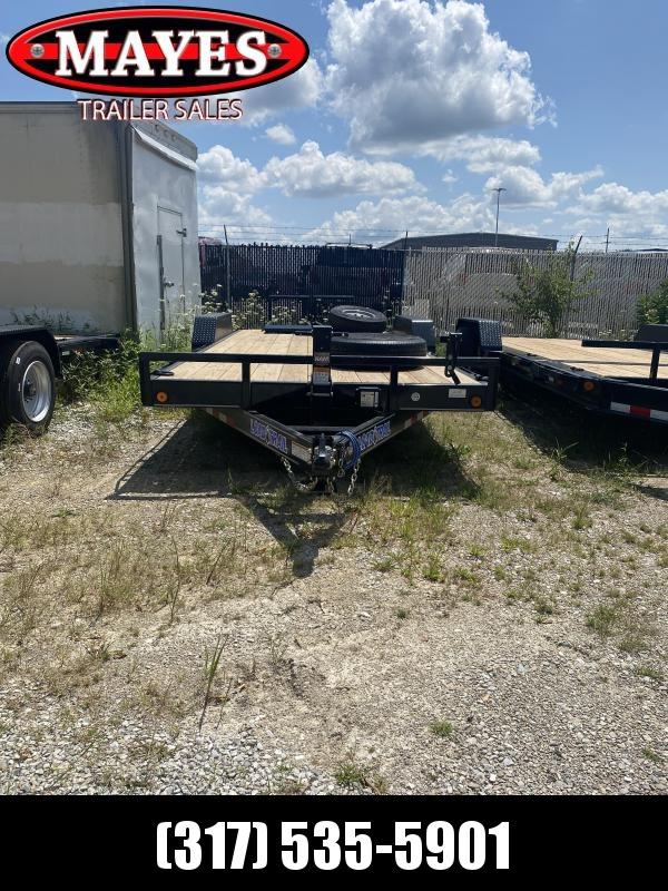 2021 Load Trail XH8322072 Equipment Trailer - 83X22 (20+2) TA - Fold Up Ramps - Dovetail - D-Rings - Rub Rail (GVW:  14000)