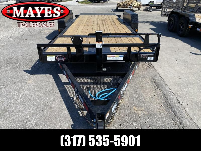 2021 PJ Trailers T6202 Equipment Trailer - 82x20 (4+16) TA Tilt - Torsion Axles - Plate for Winch - Roller on Front Deck for Winch Cable (GVW:  14000)