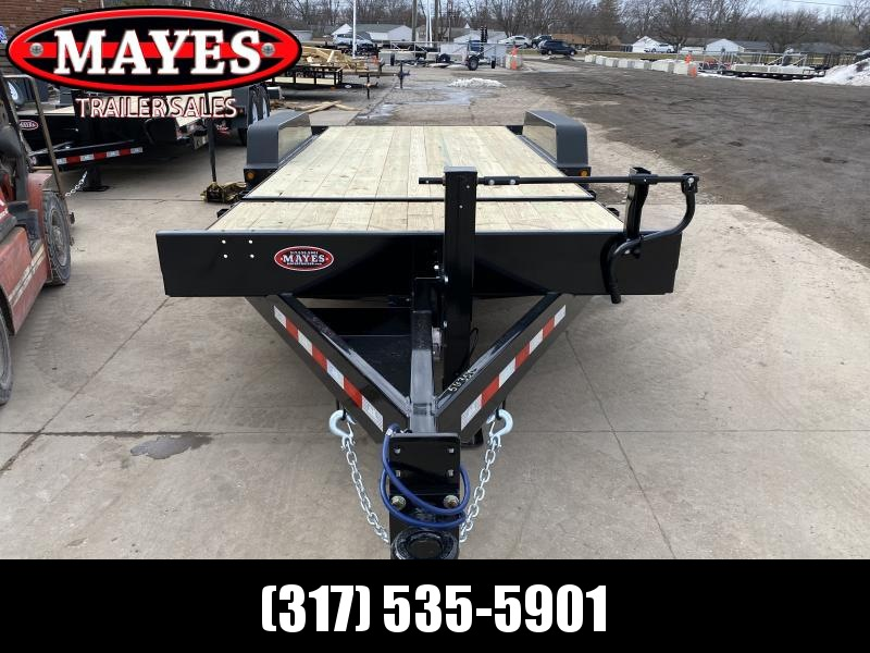 2021 B-B TBCT2016ET Equipment Trailer - 83x20 (4+16) TA Tilt - Wood Floor - Torsion Axles - Pallet Fork Holders - Pintle (GVW:  16000)