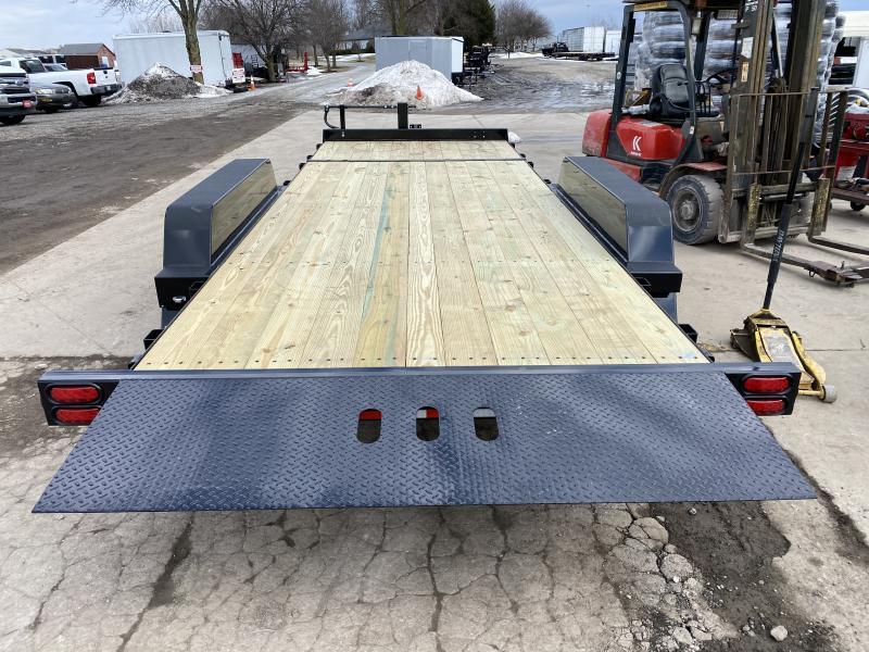 2021 B-B TBCT2016ET Equipment Trailer - 83x20 (4+16) TA Tilt - Wood Floor - Torsion Axles - Pallet Fork Holders - Pintle (GVW:  16000)