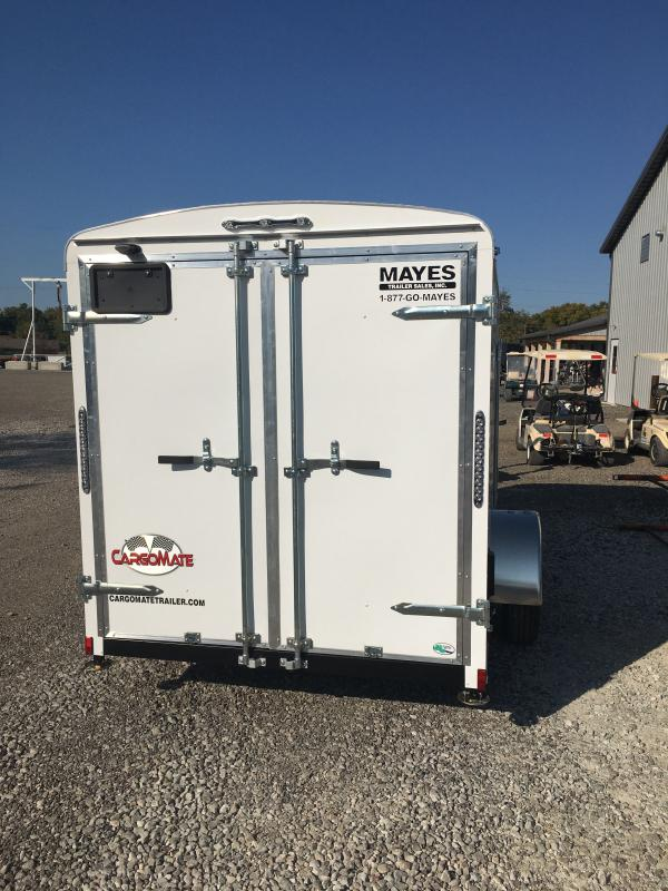 2021 Cargo Mate BL612SA Enclosed Cargo Trailer - 6x12 SA - Double Door with Dual Cambars - Side Door - Torsion Axle (GVW:  2990)
