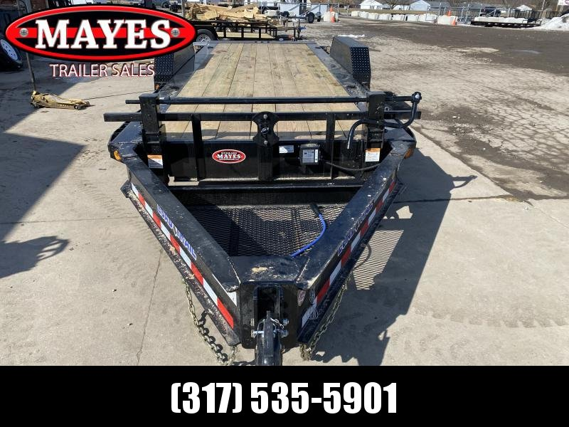 2021 Load Trail TH8320102ET Equipment Trailer - 83x20 (4+16) TA Gravity Tilt - DP Fenders - Treated Wood Floor - D-Rings - Tool Tray - Spare Tire MOUNT ONLY (GVW:  20000)
