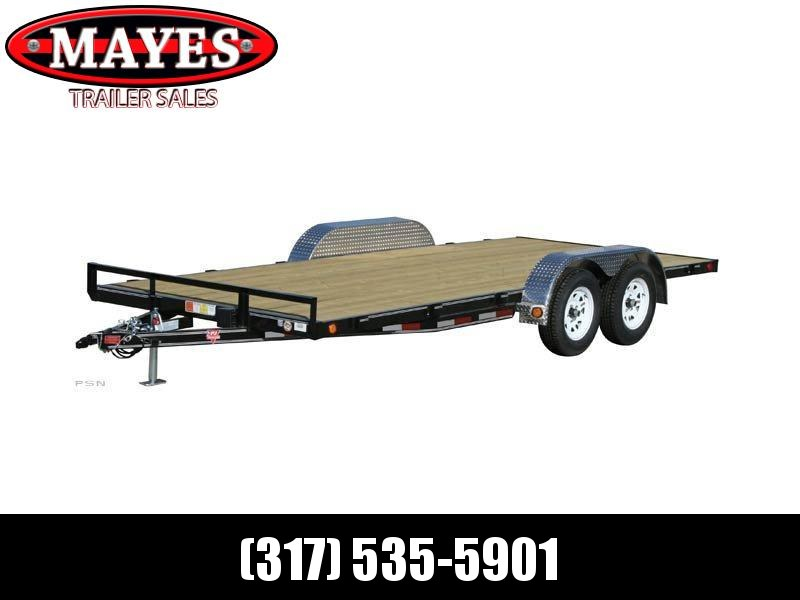2021 PJ Trailers C4202 Car / Racing Trailer - 83x20 (18+2) TA - Dovetail - Slide In Ramps - 4 Inch Channel Frame (GVW:  7000)