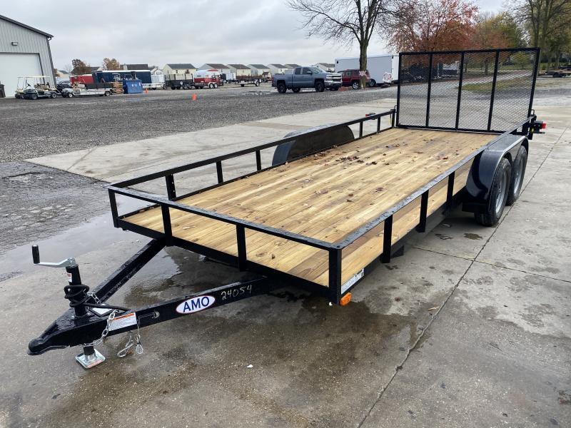 2021 American Manufacturing Operations (AMO) UT182 Utility Trailer - 82x18 TAUT - Tailgate - Electric Brakes - Wrapped Tongue - 7 Way Plug (GVW:  7000)