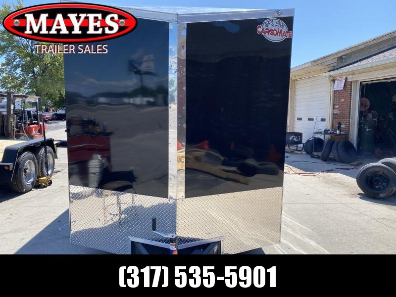 2021 Cargo Mate EHW716TA2 Enclosed Cargo Trailer - 7x16 TA - Ramp Door - Side By Side Package - 12 Inch Additional Height - Slant V-Nose (GVW:  7000)