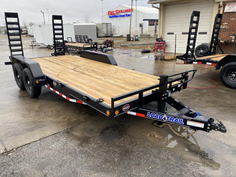 2021 Load Trail XH8318072 Car / Racing Trailer - 83x18 (16+2) TA - 6 Inch Channel Frame - Fold Up Ramps - D-Rings (GVW:  14000)