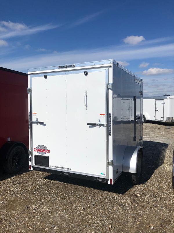 2021 Cargo Mate SSV610SA Enclosed Cargo Trailer - 6x10 SA - Ramp Door - 6 Inch Additional Height (GVW:  2990)