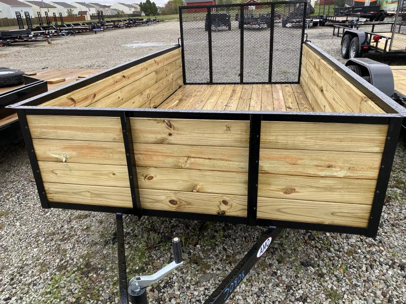 2022 American Manufacturing Operations (AMO) US121 Utility Trailer 76X12 High Wood Sides (GVW:2990)