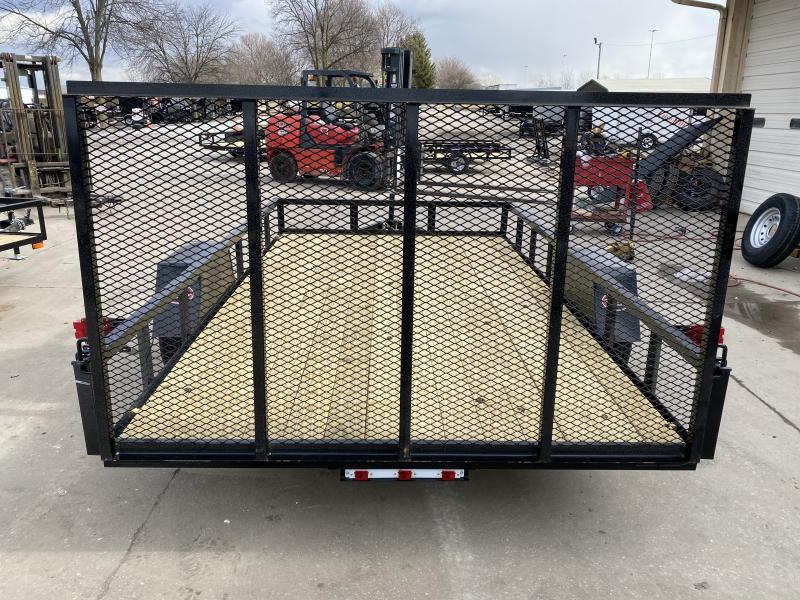 2021 American Manufacturing Operations (AMO) US121 Utility Trailer - 82x12 SAUT - Treated Wood Floor - Tailgate (GVW:  2990)