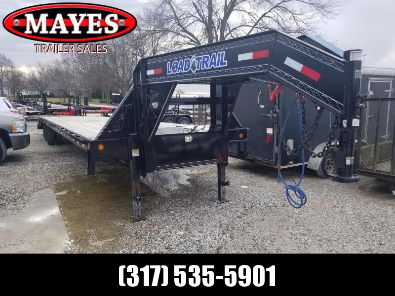 Used 2019 102 x40 (35+5) Load Trail GH0240122 Equipment Trailer - Gooseneck - Air Ride Suspension - Self Clean Dovetail - Tool Boxes (GVW:  25900)