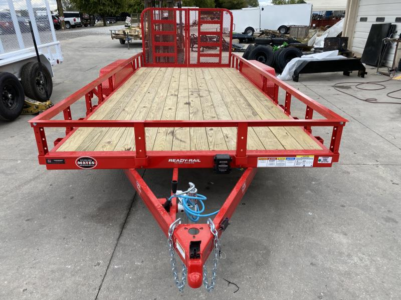 2021 PJ Trailers UL182 Utility Trailer - 83x18 (16+2) TAUT - Steel DP Fenders - Dovetail - Split HD Gate - Spare Tire and Mount (GVW:  7000)