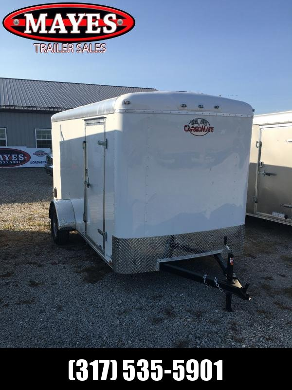 2021 Cargo Mate BL612SA Enclosed Cargo Trailer - 6x12 SA - Double Door with Dual Cambar - Side Door - Torsion Axle - Aluminum Roof (GVW:  2990)