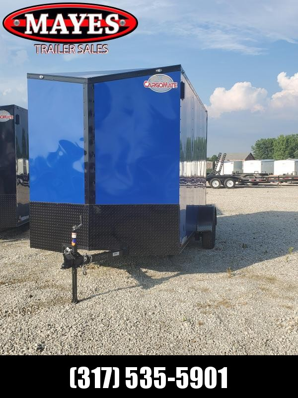 "2020 6x12 Cargo Mate EHW612SA Enclosed Cargo Trailer - Deep Blue (RD)(GVW: 2990)(12"" Extra Height)"
